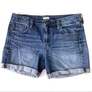 J. Crew Midi Medium Wash Cuffed Shorts